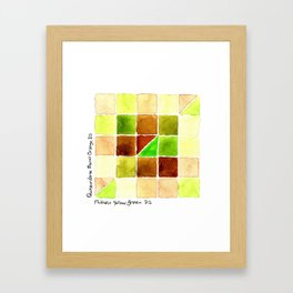 Color Chart - Quinacridone Burnt Orange DS and Phthalo Yellow Green DS Framed Art Print