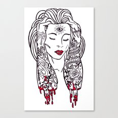 Queen of disaster Canvas Print