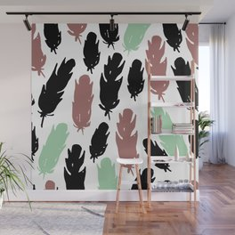 Feather flash Wall Mural