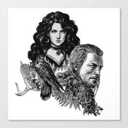 Geralt and Yennefer-Witcher Canvas Print
