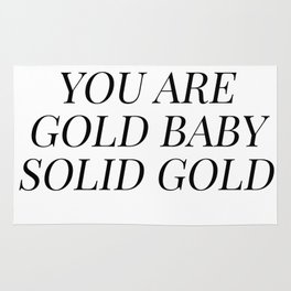 You are gold baby solid gold Rug