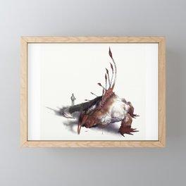 Ancient Bunyip Framed Mini Art Print
