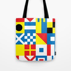 International Alphabetical Marine Signal Flags Tote Bag