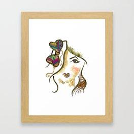 'Salma' Illustration Framed Art Print