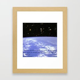 Hubble Deep Field Astronaut Floating Blaise Pascal Framed Art Print