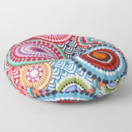 ECLECTIC FLOWERS Floor Pillow