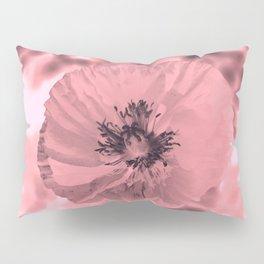 pink poppy Pillow Sham