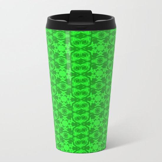 Greenery Kaleidoscope 8075 Metal Travel Mug