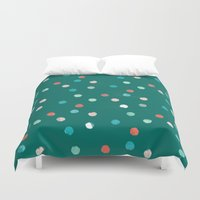 dots Duvet Covers featuring dots by Grace