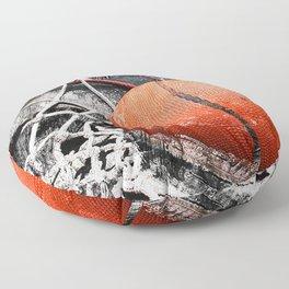 Modern Basketball Art 8 Floor Pillow