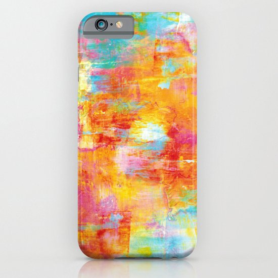 OFF THE GRID Colorful Pastel Neon Abstract Watercolor Acrylic Textural Art Painting Nature Rainbow  iPhone & iPod Case