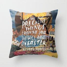 Koyaanisqatsi for Silver Screen Society Throw Pillow