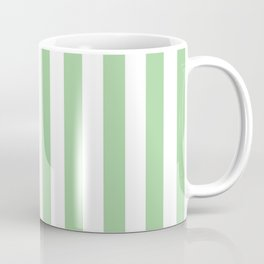 Vertical Mint Stripes Pattern Coffee Mug