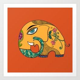 KamalGaja (elephant with lotus ) Art Print