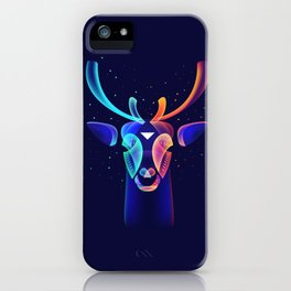 Fantasy night (Snow and warm lights) iPhone Case
