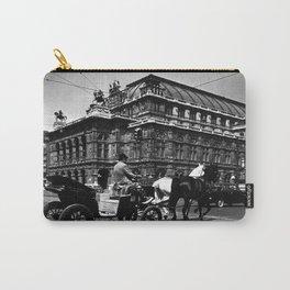 Retro Austria Vienna Fiaker Staatsoper opera  1970 Carry-All Pouch