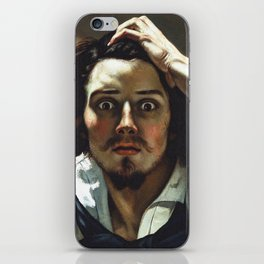 "Gustave Courbet ""The Desperate Man (Self-Portrait)"" iPhone Skin"