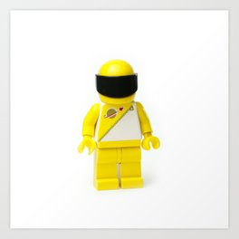 Yellow astronaut Minifig with his visor down Art Print
