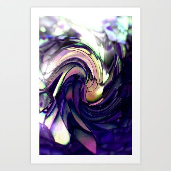 blue Paua spiral Art Print