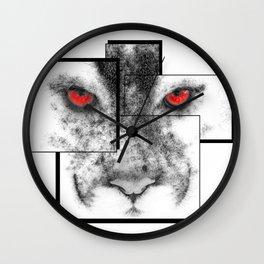 Line series, cougar. Wall Clock