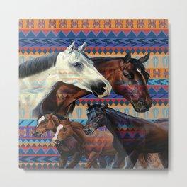 Horse Native Blackout Thermal Grommet Art For  Window Curtains Pillow Duvet Cover Comforter Metal Print