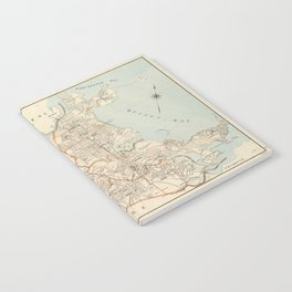 Vintage Map of Quincy MA (1907) Notebook