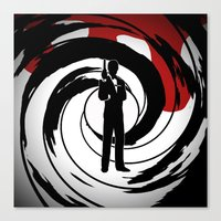 james bond Canvas Prints featuring JAMES BOND by alexa