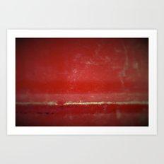 Red Plate Art Print