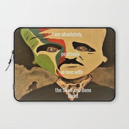 Poe, I am absolutely, positively, in love with the Skull and Bone Band Laptop Sleeve
