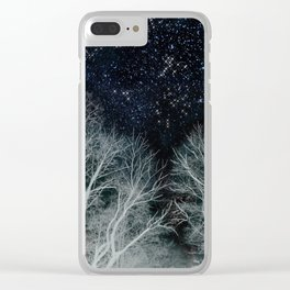 Constellation Forest Clear iPhone Case