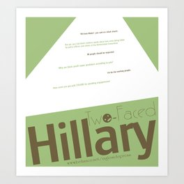 Two-faced Hillary Art Print