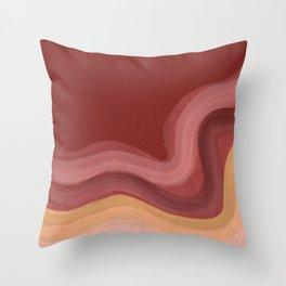 Terracotta wave Throw Pillow