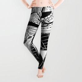 Yin & Yang - [collaborative art with Magdalla del Fresto] Leggings