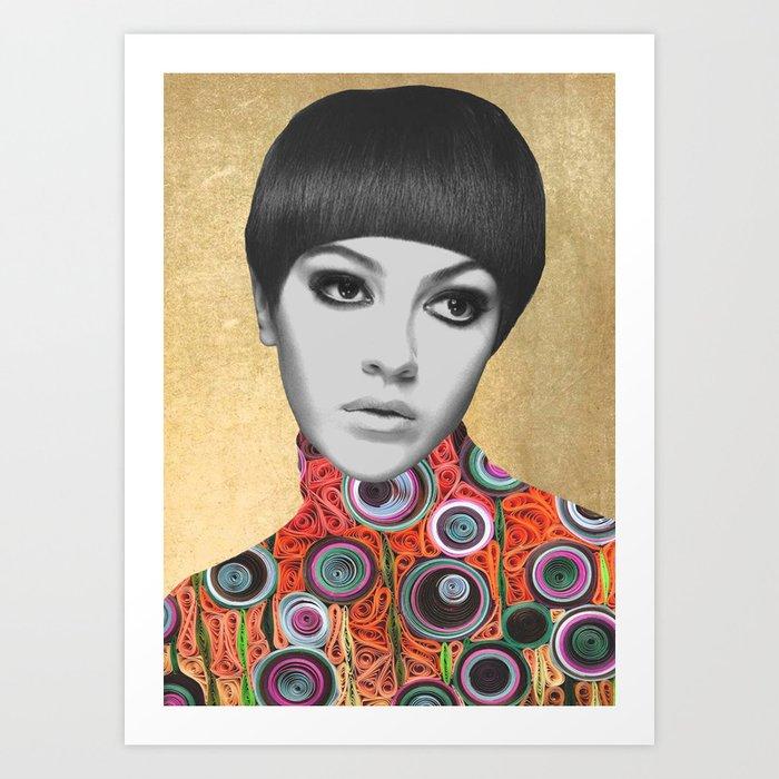PORTRAIT22 (woman) Art Print