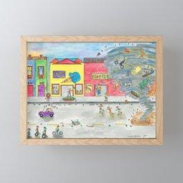 Happy Town V Framed Mini Art Print