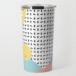 Memphis Pattern 8 - 80s - 90s - Retro Travel Mug