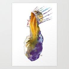 Fashion - Ice Queen Art Print