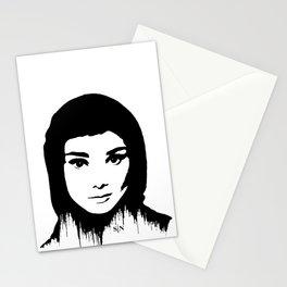 Audrey Hepburn art design ( black and white)  Stationery Cards