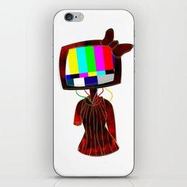 3D TV Head iPhone Skin