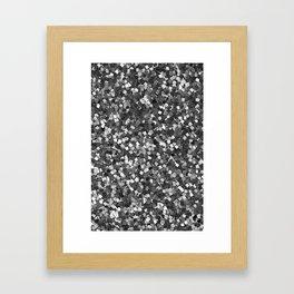 Dazzling Sparkles (Black and White) Framed Art Print