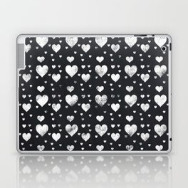 Cute Chalkboard Hearts Pattern Laptop & iPad Skin
