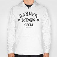 gym Hoodies featuring Banner Gym by Mitch Ethridge