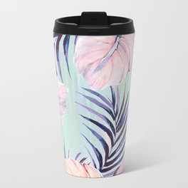 Pastel powder palms Metal Travel Mug