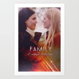 Family - a SwanQueen Fanfiction Art Print