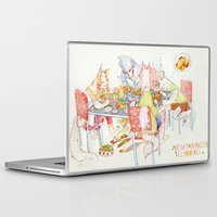 vegetarian Laptop & iPad Skins featuring Vegetarian Werewolves by chechula