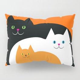 Halloween Cat Family Pillow Sham