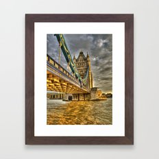 Sunset at Tower Bridge Framed Art Print