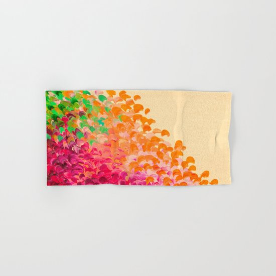 CREATION IN COLOR Autumn Infusion - Colorful Abstract Acrylic Painting Fall Splash Ombre Ocean Waves Hand & Bath Towel