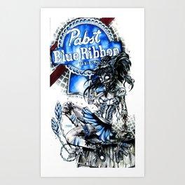 PBR ZOMBIE GIRL Art Print