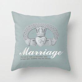 November Marriage Throw Pillow